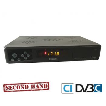 Clint DC3 DVB-C TV-boks med kortlæser og scart. Inkluderet YouSee CI+ modul