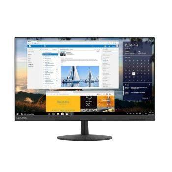 """Elegant Lenovo QHD 27"""" skærm i ravnsort"""